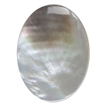 Mother of Pearl Gemstone - Oval Cabochon 30mm x 40mm