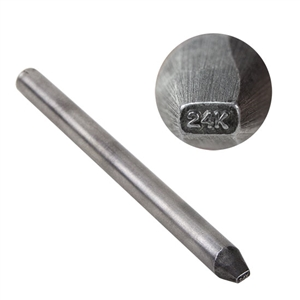 Quality Stamp - 24K - Straight 3/4mm