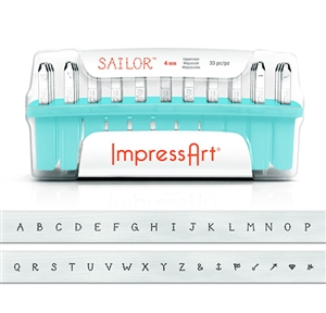 Sailor Letter Stamps - Upper Case 4mm