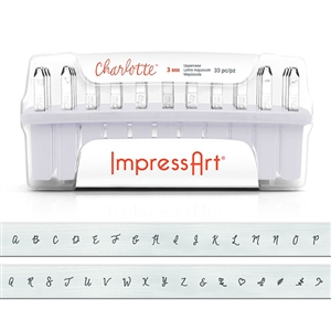 Charlotte Letter Stamps - Lower Case 3mm