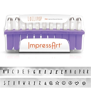Lollipop Letter Stamps - Upper Case 4mm