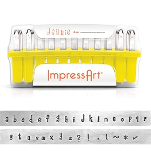 Jeanie Letter Stamps - Lower Case 4mm