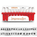 Geisha Letter Stamps - Upper Case 4mm