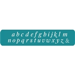 Stylish Italic Letter Stamps - Lower Case 3mm