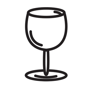 Design Stamp - Wine Glass 6mm