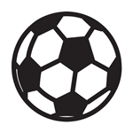 Design Stamp - Soccer Ball 6mm