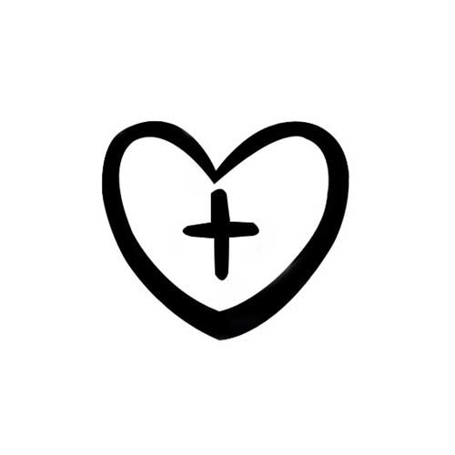 design stamp heart with cross 5mm cool tools