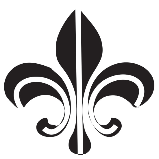 design stamp jumbo fleur de lis 10mm cool tools