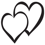 Design Stamp Jumbo - Double Heart 10mm