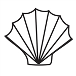 Design Stamp Jumbo - Sea Shell 10mm