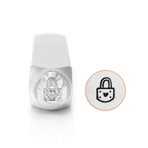 Design Stamp - Padlock Heart 6mm