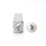 Design Stamp - Angled Line Texture Small 6mm
