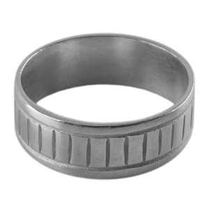 Sterling Silver Ring Core - Slotted