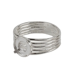 Sterling Silver Tapered Band Prong Setting Ring -8mm Pkg 1