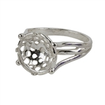 Sterling Silver Bubbles Setting Ring -10.7mm Pkg 1