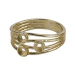 Brass 3 Bezel Setting Ring -3mm Pkg 1