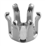 Sterling Silver Snap-Set Prong Setting - Round