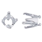 Fine Silver Embeddable Snap-Set Prong Setting