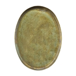Brass Bezel Cup Oval 13x18mm