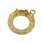 Brass Pendant Bezel Setting - Rounded Crown Round 16mm Pkg - 1