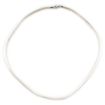 Cream Satin Necklace 2mm