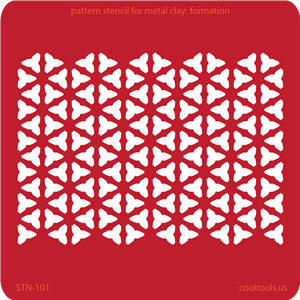 Pattern Stencil for Metal Clay - Formation