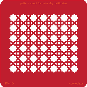 Pattern Stencil for Metal Clay - Celtic View
