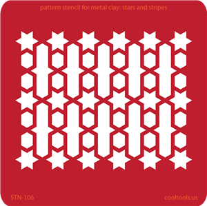 Pattern Stencil for Metal Clay - Stars and Stripes