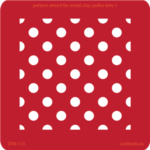 Pattern Stencil for Metal Clay - Polka Dots 1