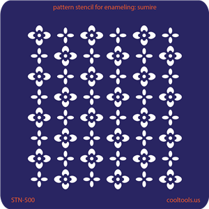 Pattern Stencil for Enameling - Sumire