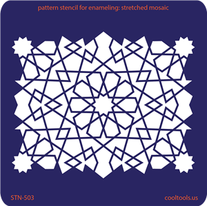 Pattern Stencil for Enameling - Stretched Mosaic