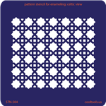 Pattern Stencil for Enameling - Celtic View