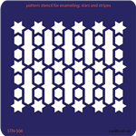 Pattern Stencil for Enameling - Stars and Stripes