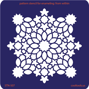 Pattern Stencil for Enameling - From Within