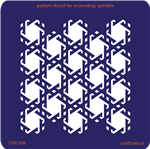 Pattern Stencil for Enameling - Spindels