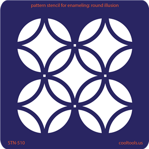 Pattern Stencil for Enameling - Round Illusion