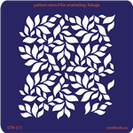 Pattern Stencil for Enameling - Foliage