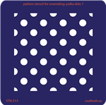 Pattern Stencil for Enameling - Polka Dots 1