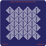 Pattern Stencil for Enameling - Cross Stitch