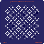 Pattern Stencil for Enameling - Criss Cross