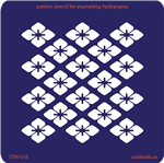 Pattern Stencil for Enameling - Hydrangeas