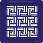 Pattern Stencil for Enameling - Woven Squares