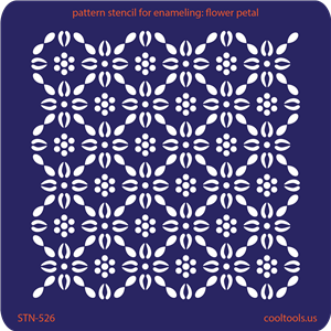 Pattern Stencil for Enameling - Flower Petal