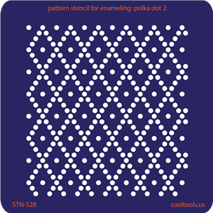 Pattern Stencil for Enameling - Polka Dot 2