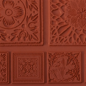 Rubber Enameling Stamp - Summer Tiles