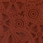 Rubber Enameling Stamp - Gears Background