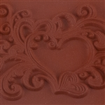 Rubber Enameling Stamp - Heart Flourish Splash