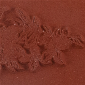 Rubber Enameling Stamp - Lily Cascade