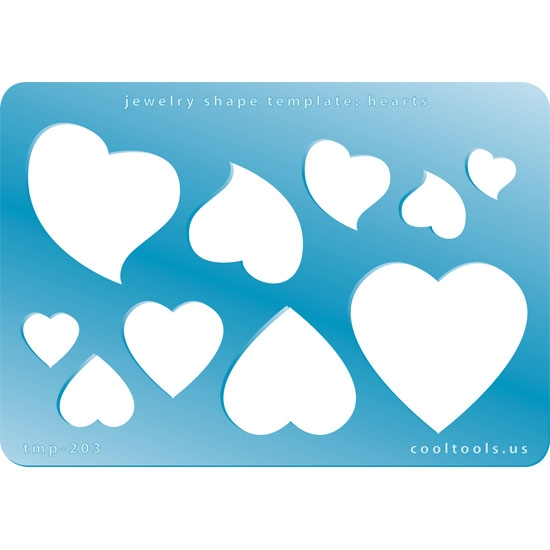jewelry shape template hearts cool tools