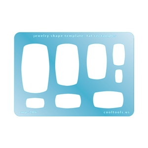 Jewelry Shape Template - Fat Rectangles